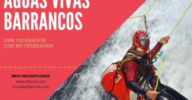 CURSO AGUAS VIVAS PARA DESCENSO DE BARRANCOS