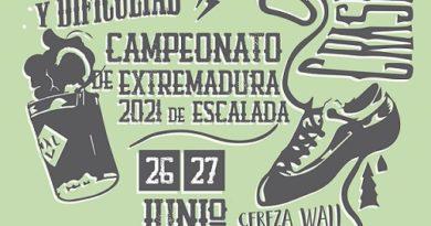 CAMPEONATO DE EXTREMADURA DE ESCALADA 2021. BOULDER Y DIFICULTAD. 26 Y 27 DE JUNIO. PLASENCIA