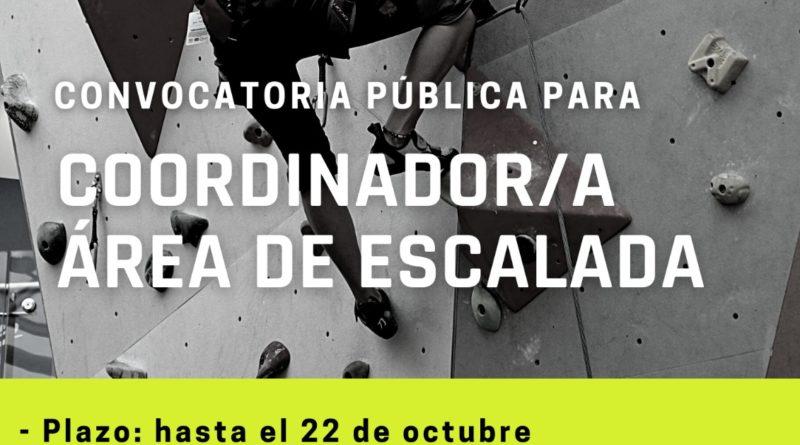 CONVOCATORIA PUBLICA: COORDINADOR AREA DE ESCALADA